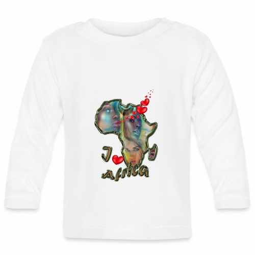I love africa - Baby Long Sleeve T-Shirt