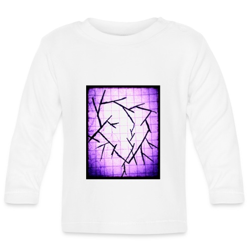 Purple broken heart - Langærmet babyshirt