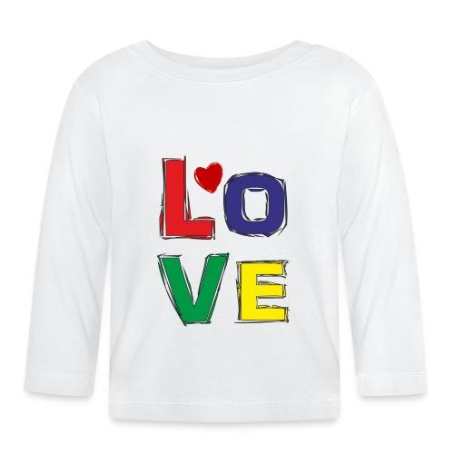 LOVE - Baby Langarmshirt