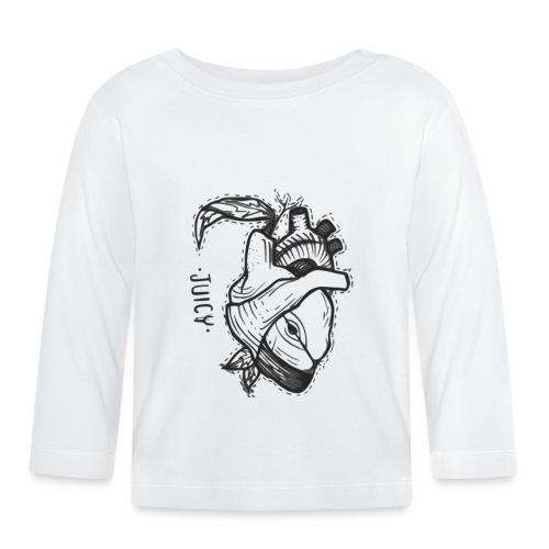 Apple Heart B - Camiseta manga larga bebé