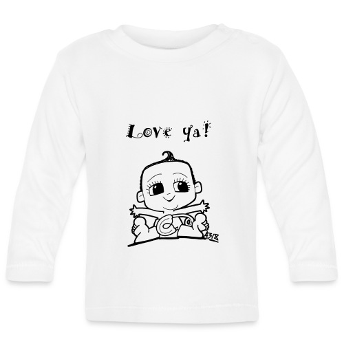 baby girl blackwhite - T-shirt