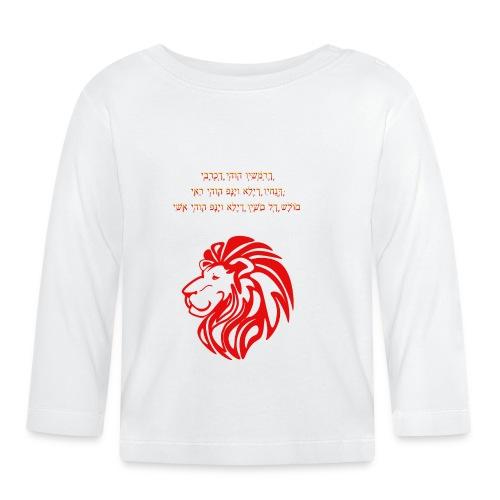 Löwe mit aaronitischem Segen - Baby Langarmshirt