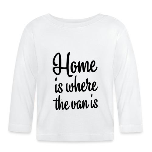 camperhome01b - Langarmet baby-T-skjorte