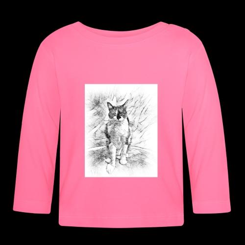 le chat prend la pose - T-shirt manches longues Bébé