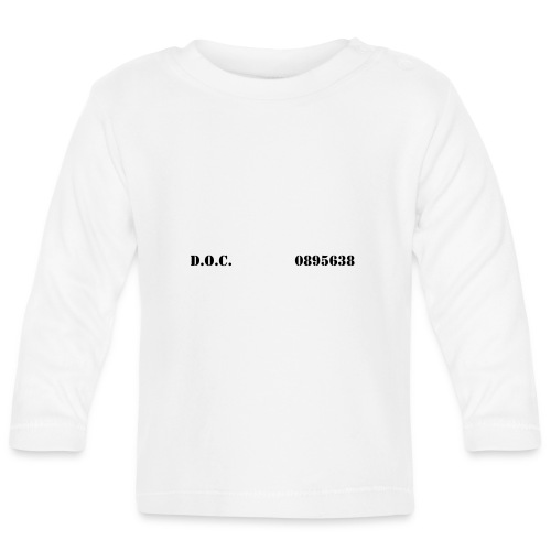 Department of Corrections (D.O.C.) 2 front - Baby Langarmshirt