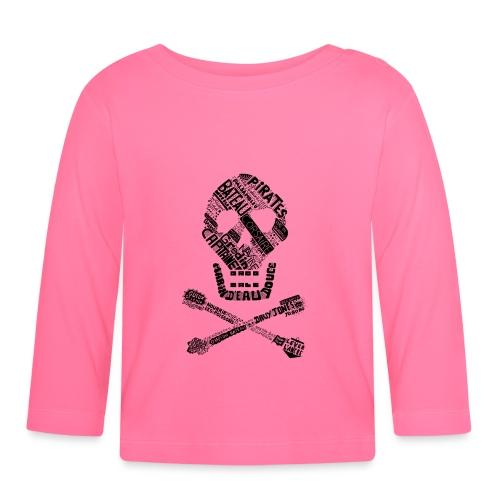 Tête de mort mots - T-shirt manches longues Bébé