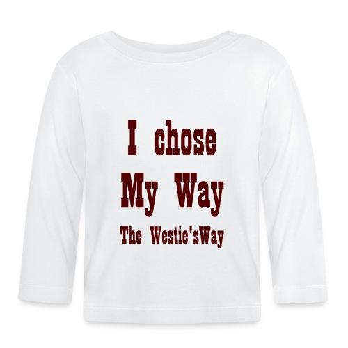 I chose My Way Brown - Koszulka niemowlęca z długim rękawem