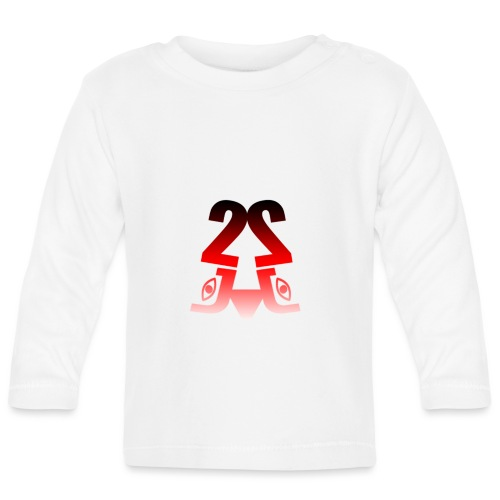 2J Logo fade - Langærmet babyshirt