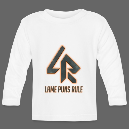 Lame Puns Rule: Logo - Baby Long Sleeve T-Shirt