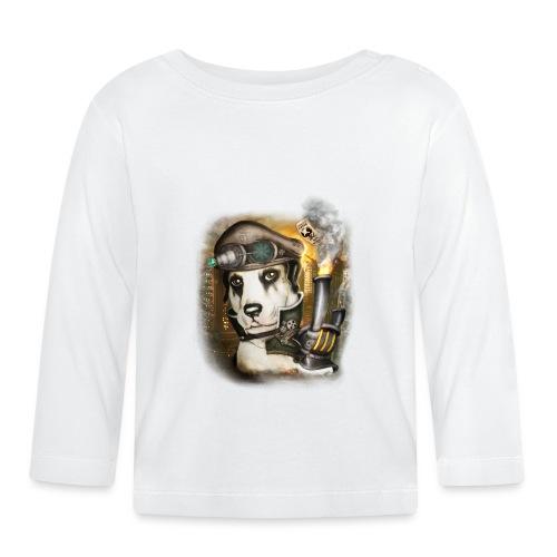 Steampunk Dog #3 - Maglietta a manica lunga per bambini