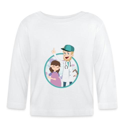 Richtig Schwanger Logo - Baby Langarmshirt