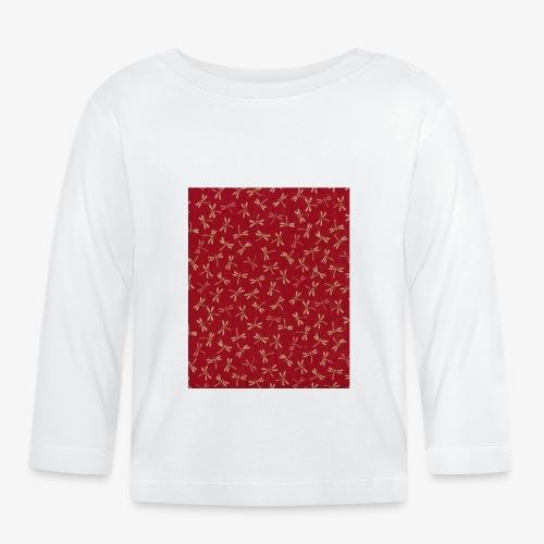 Motif dragon sur fond rouge - T-shirt manches longues Bébé