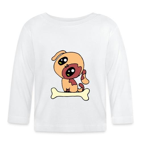 Kawaii le chien mignon - T-shirt manches longues Bébé