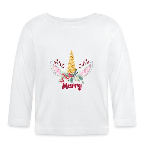 Merry Unicorn - Baby Long Sleeve T-Shirt