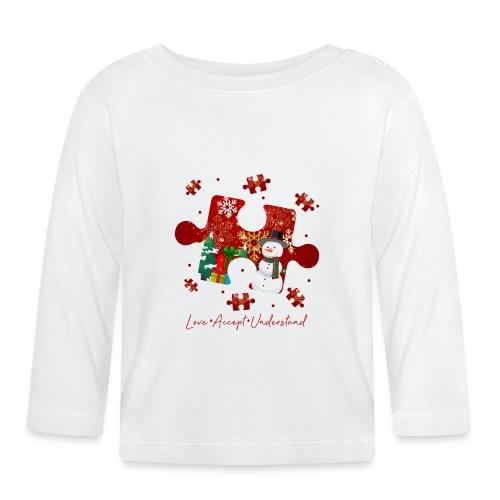 Love Accept Understand Autism Awareness - Baby Long Sleeve T-Shirt