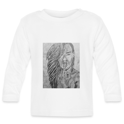 Jyrks_kunstdesign - Langærmet babyshirt