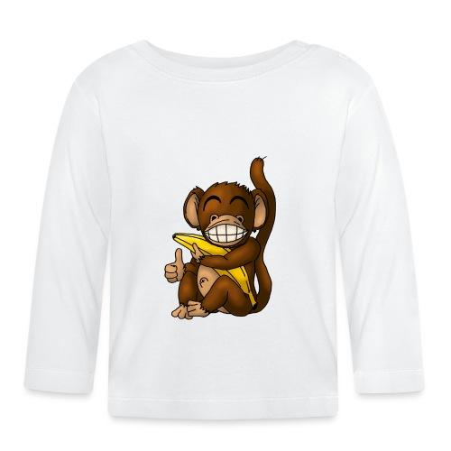 Super Fröhlicher Affe - Baby Langarmshirt