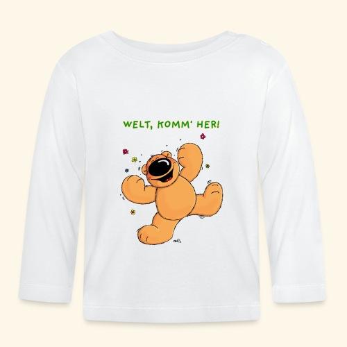 chris bears Welt lass Dich umarmen - Baby Langarmshirt