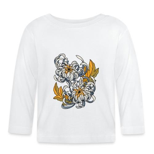 Chrysanthèmes enlacés - T-shirt manches longues Bébé