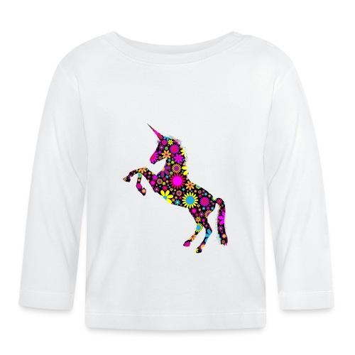 Unicorn-Floral - Maglietta a manica lunga per bambini