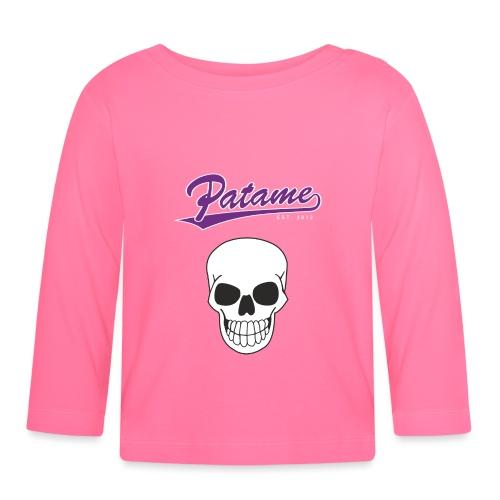 Patame Purple White Skull - Baby Langarmshirt