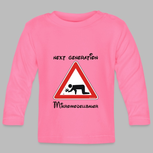 Warnschild Mikromodellbauer Next Generation - Baby Langarmshirt