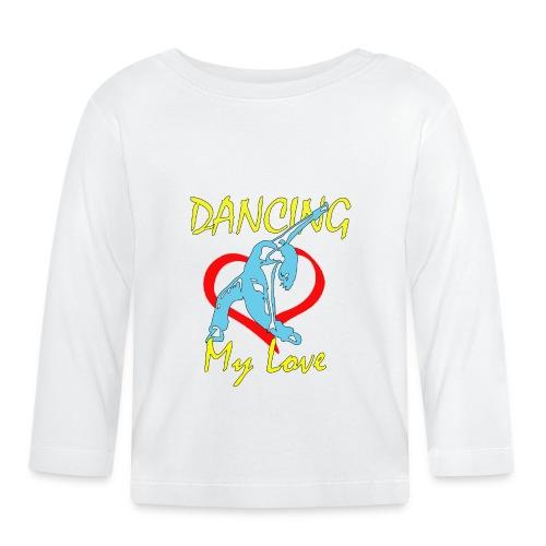 Dancing my Love HBlau - Baby Langarmshirt