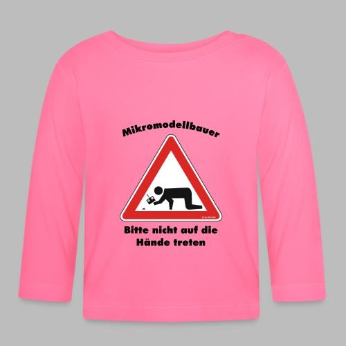 Mikromodell Warnschild Hände - Baby Langarmshirt