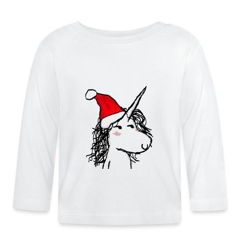 unicorno Natale - Maglietta a manica lunga per bambini