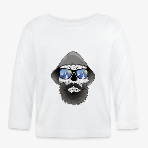 Totenkopf mit sonnenbrille und hut - Baby Langarmshirt