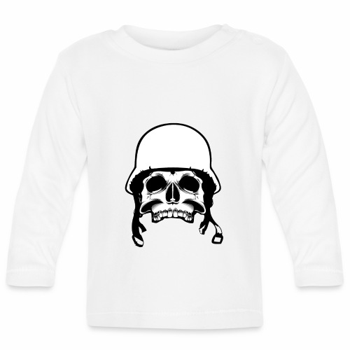 Soldier Helmet Skull 2c - Baby Long Sleeve T-Shirt