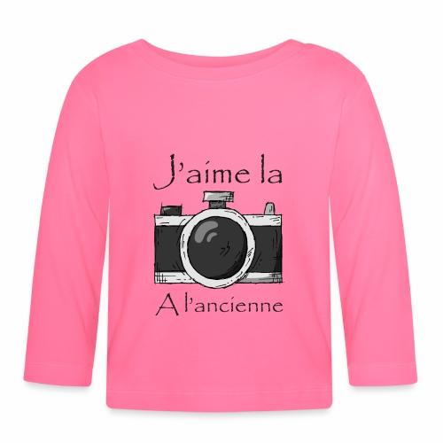 J'aime la Photo à L'ancienne - T-shirt manches longues Bébé