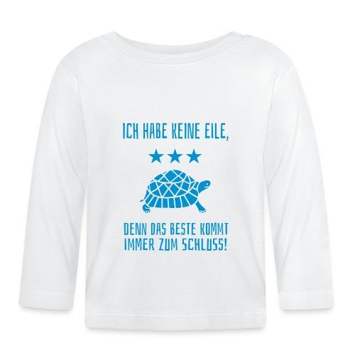 Beste zum Schluss Langsam Laufen Schildkröte - Baby Langarmshirt