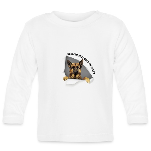 German Shepherd On Board - Baby Long Sleeve T-Shirt