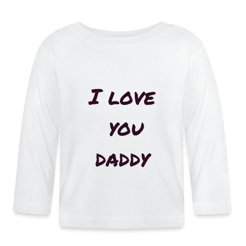 Ich liebe dich Papa - Vatertagsgeschenktipp - Baby Langarmshirt