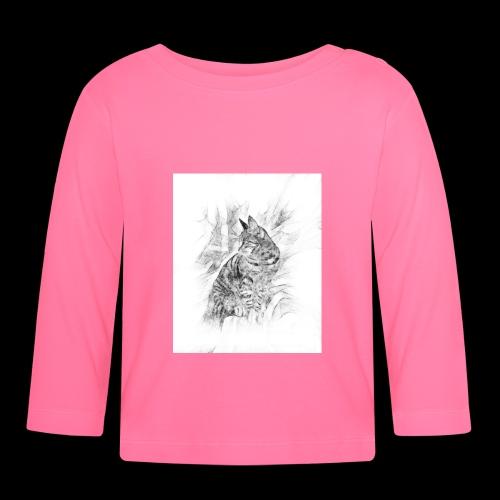 chat Pensif - T-shirt manches longues Bébé