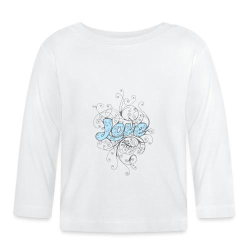 LOVE CON DECORI - Maglietta a manica lunga per bambini