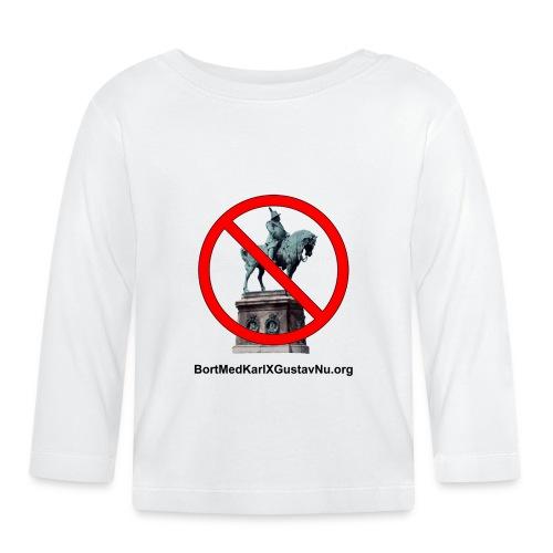 Bort med Karl XI Gustav på Stortorget i Malmö nu! - Långärmad T-shirt baby