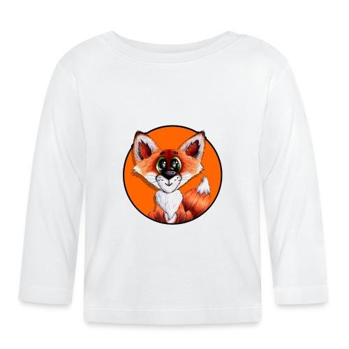 llwynogyn - a little red fox (white) - Baby Long Sleeve T-Shirt