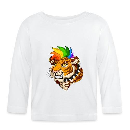 Punk Tiger - Koszulka niemowlęca z długim rękawem