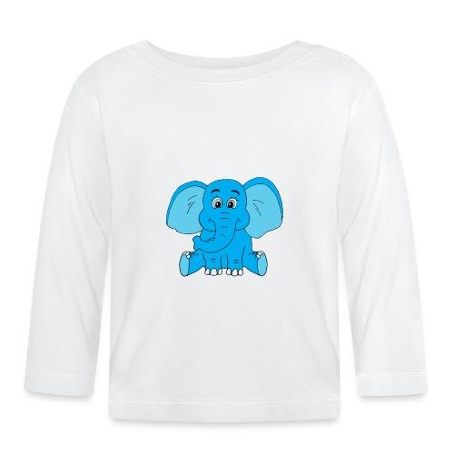 Baby Elefant - Baby Langarmshirt
