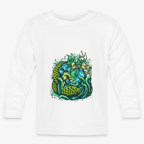 Dieu de la mer - T-shirt manches longues Bébé