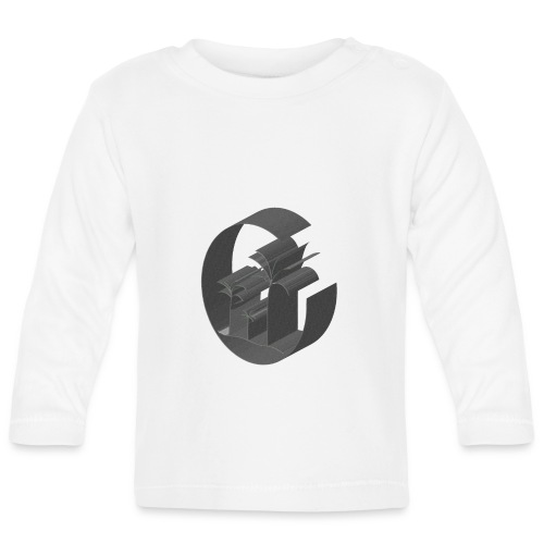3D Miami Palm Trees Badge - Baby Long Sleeve T-Shirt