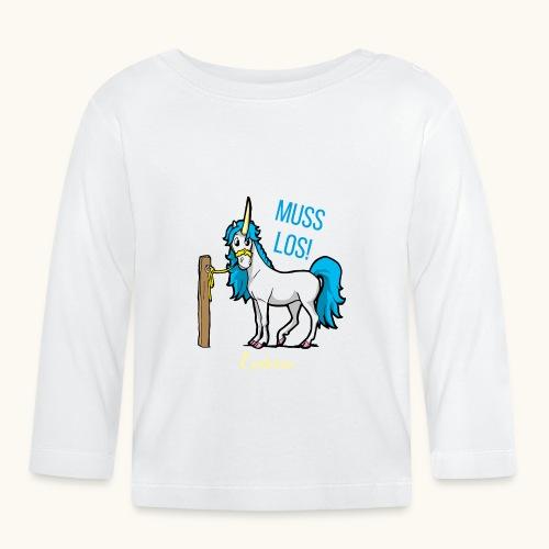 Dessin drôle de licorne disant bande dessinée cadeau - T-shirt manches longues Bébé