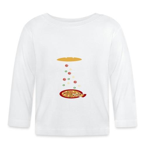 Lustige UFO-Pizza - Baby Langarmshirt
