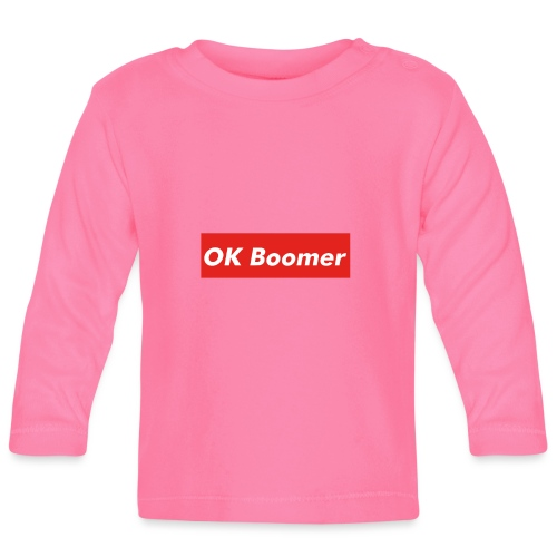 OK Boomer Meme - Baby Long Sleeve T-Shirt