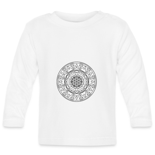 Sacred Geometry TetraFlower Black - Baby Long Sleeve T-Shirt