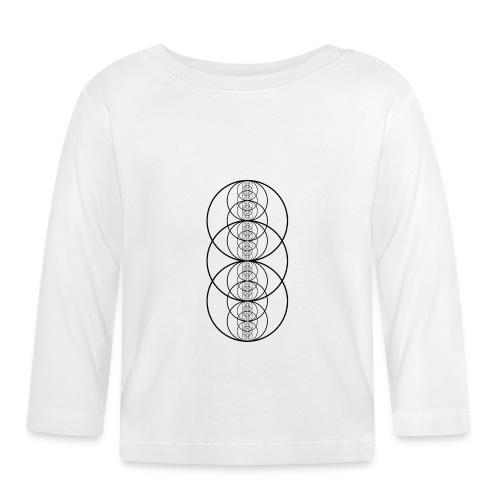 Sacred Geometry Fractal Vesica Picsis Black - Baby Long Sleeve T-Shirt