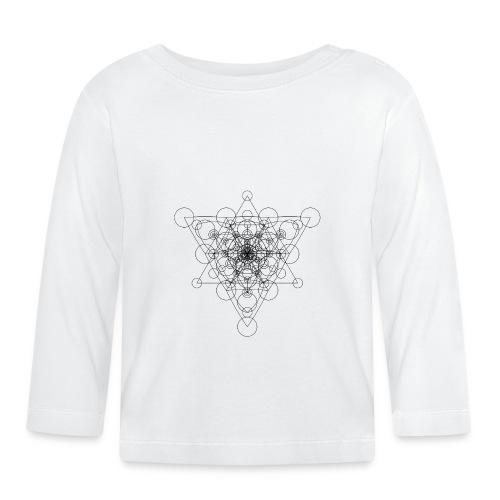 Sacred Geometry Circle Star Black - Baby Long Sleeve T-Shirt