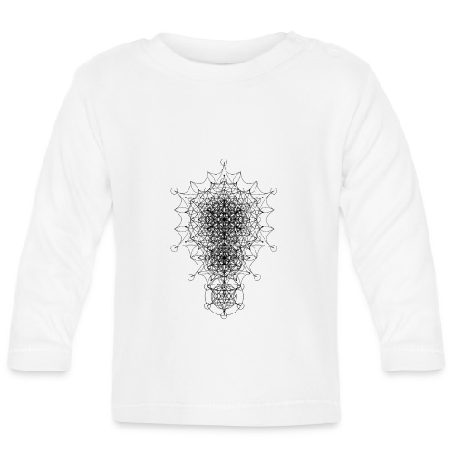 Sacred Geometry Curved Dimensions Black - Baby Long Sleeve T-Shirt